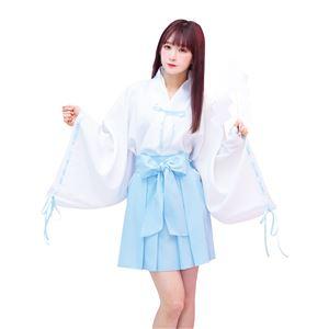 【コスプレ衣装/コスチューム】TG ミニリボン巫女 水色