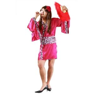 コスプレ衣装/コスチューム 【花の舞妓MAN】 髪飾り 着物 帯付き 『女装MAN』 〔ハロウィン〕