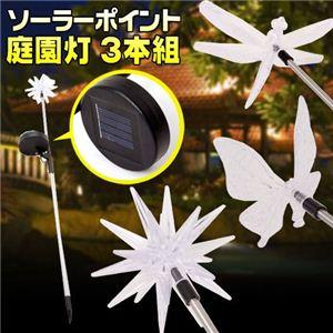 ソーラーポイント庭園灯 3本組