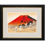 富士図額絵 『赤富士飛翔』 【中】