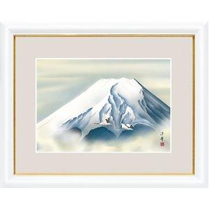 富士図額絵 白額入り 『黎明富士』 【大】