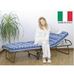 イタリア製 折りたたみ式 ウッドスプリングベッド 「ソンノ コモド」