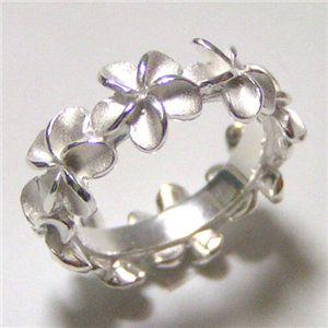 シルバー925 ハワイアンジュエリーリング(指輪)プルメリア 00508 US5号/日本サイズ9〜9.5号