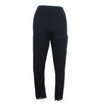 【しっとりインナー】裾レース付八分丈パンツ ブラック Lサイズ 2枚セット
