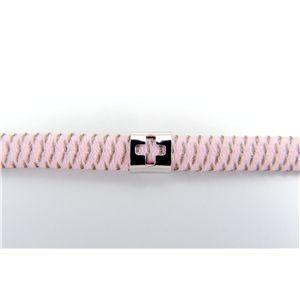 静電気除電ミニクロスブレスレット2WAYロング ピンク