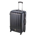 ダブルファスナースーツケース S ブラック