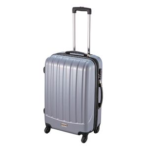ダブルファスナースーツケース M シルバー