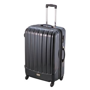 ダブルファスナースーツケース L ブラック