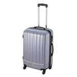 ダブルファスナースーツケース L シルバー