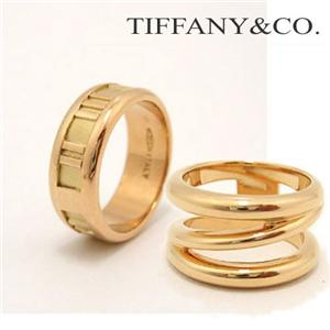TIFFANY&CO. イエローゴールドリング B/アトラスナローニューメリックリング 5.0(約9.25号) /12657412