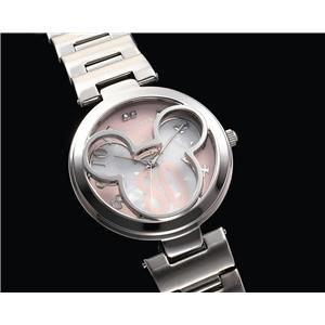 ミッキーマウス世界限定ミッキー誕生80周年記念時計(ピンク&ホワイト)