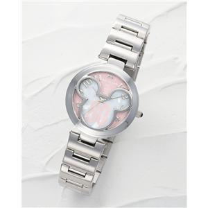 ミッキー腕時計 世界限定ミッキー誕生80周年記念時計(ピンク&ホワイト)