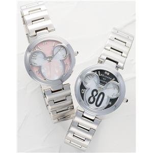 ディズニー世界限定ミッキー誕生80周年記念時計ピンクとブラックの時計