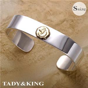 TADY&KING 平打ちバングルK18ウルフ Sサイズ