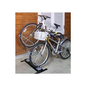 省スペースで自転車を収納【サイクルスタンド】2台用
