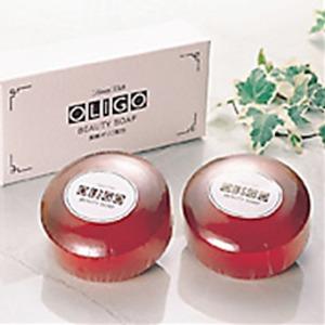【2個セット】 オリゴビューティソープ/洗顔石鹸 【黒糖オリゴ配合】 無合成着色料・無鉱物油 日本製