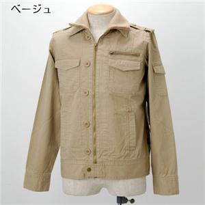 【08新作】WOOLRICH 2枚衿 ミリタリージャケット 2W5-3341 ベージュ XL