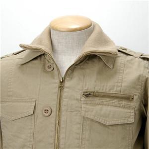 【08新作】WOOLRICH 2枚衿 ミリタリージャケット 2W5-3341 ベージュ M