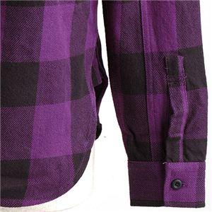 ブロックチェックシャツ 2U8-9000 パープル L