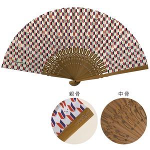 komon+ 和紙扇子70型25間【3本セット】矢絣うさぎ