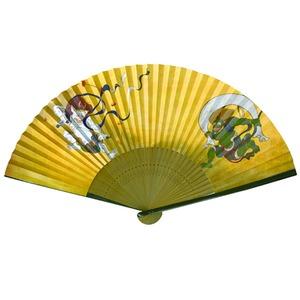 【京扇子】紳士用扇子75型35間【5本セット】風神雷神