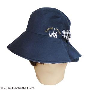 【保育士さん】リサとガスパール つば広帽子 ブラック&ホワイト