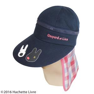 【保育士さん】リサとガスパール 3WAYつば広帽子 ピンクチェック