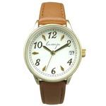 便利な日付付き 腕時計【2本セット】【ブラウン】U04013 A-1