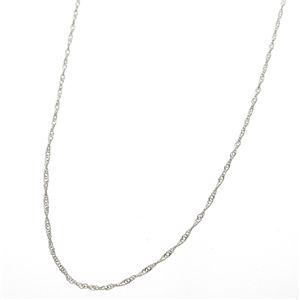 《国産・18金》 K18 ホワイトゴールド(WG) スクリューチェーンネックレス 40cm