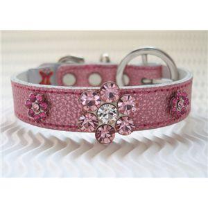 デザイナーが考えたラインストーンきらきらの犬首輪「sakura」