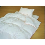 極細繊維マイクロファイバー使用の年中使える布団セット シングルアイボリー
