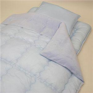 綿マイヤー掛け布団カバー ブルー