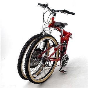インディアンモーターサイクル 折りたたみ18段変速 自転車 レッド