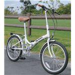 MYPALLAS(マイパラス) 折畳自転車20型6段 M-30W ホワイト