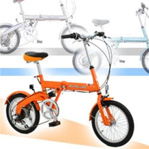 MY PALLAS(マイパラス) 折畳自転車16型6段ギア・リアサス M-09 ラスターオレンジ