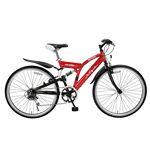 MYPALLAS(マイパラス) 自転車 M-650-2 26インチ 6段変速 リアサス TypeII レッド 【クロスバイク】