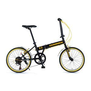 HUMMER(ハマー) 折り畳み自転車 20インチ FDB207 ブラック