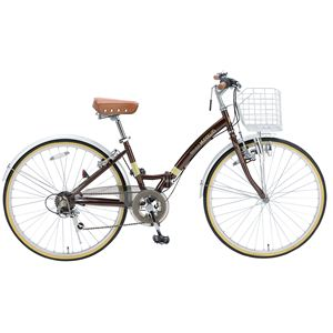 MYPALLAS(マイパラス) 折り畳み自転車 M-505 26インチ 6段変速 ブラウン