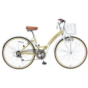 MYPALLAS(マイパラス) 折り畳み自転車 M-505 26インチ 6段変速 ナチュラル
