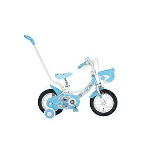 ディズニー子供用自転車12インチ 補助輪&押棒付 スティッチ