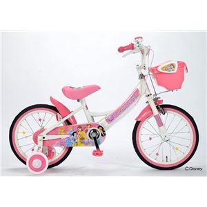 ディズニー子供用自転車16インチ 補助輪付 プリンセス MD-08