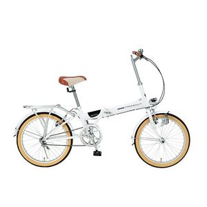 MYPALLAS(マイパラス) 自転車 折畳自転車 20インチ M-240 ホワイト ライト付