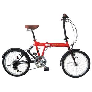 MYPALLAS(マイパラス) 折畳自転車 SC-07OR 20インチ 6段変速 リアサス オレンジ