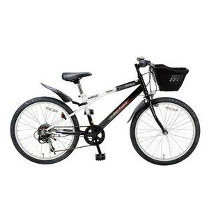 MYPALLAS(マイパラス) 子供用自転車 M-707 22インチ 6段変速 子供用 ブラックホワイト(マウンテンバイク)