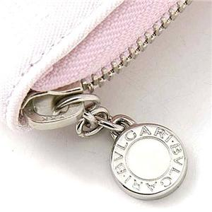 BVLGARI(ブルガリ) 二折財布 Small zipped wallet 24843 ライトピンク(限定カラー)