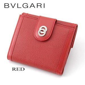 BVLGARI(ブルガリ) ドッピオトンド二折財布 25217/RED