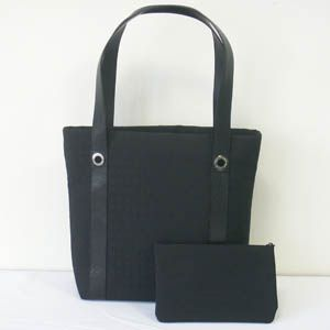 BVLGARI(ブルガリ)  #22284 Agatha BagShopping Shouldercarry Medium Fabric Black/P.