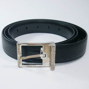 BVLGARI(ブルガリ)  #22205  Man Belt Printed Calf Black/P