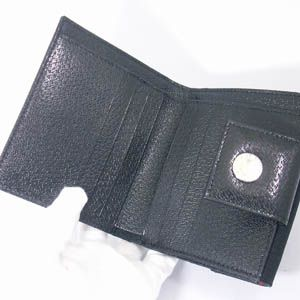 BVLGARI(ブルガリ) #22241 Woman wallet 2 folds without zip Lettere fabric black/pigskin black/P