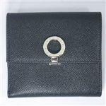 BVLGARI(�u���K��)�@#23277 Woman wallet 2 folds with clip Grain leather black/P.